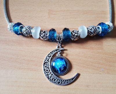 Gallifreyan Moon necklace